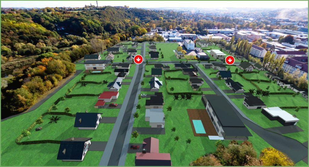Döbeln Walduferviertel | Visualisierung der Grundstückflächen