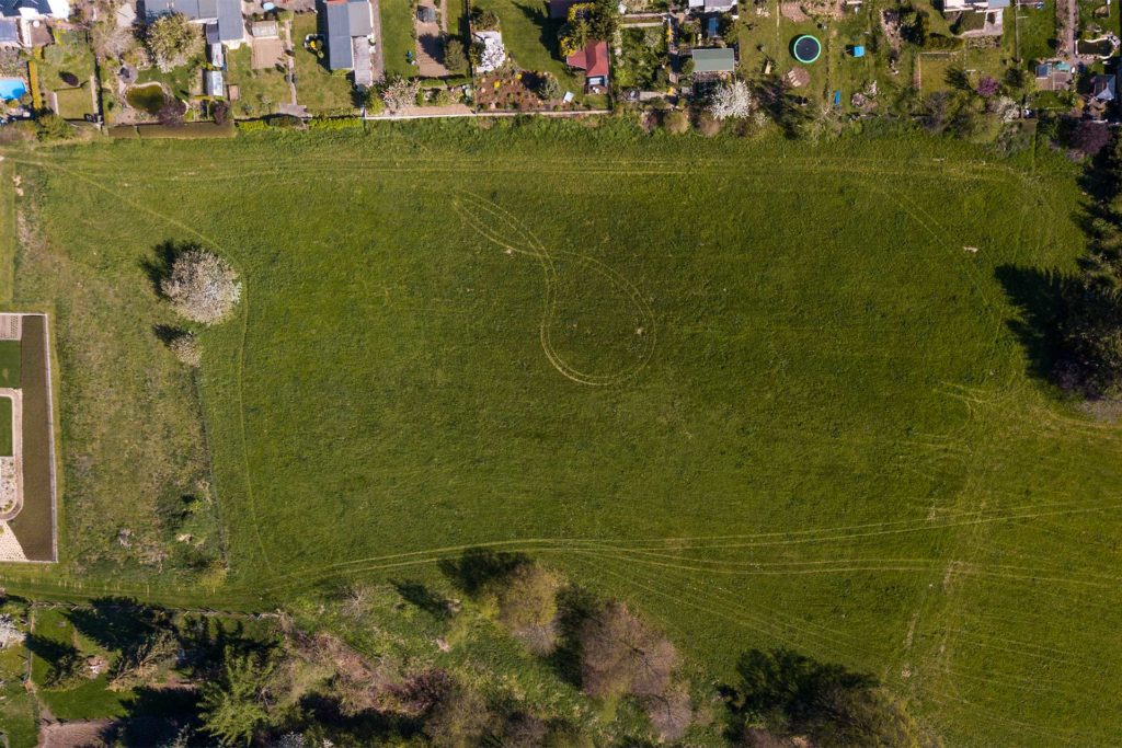 Baugebiet Eichbergblick in Leisnig - Drohnenaufnahme