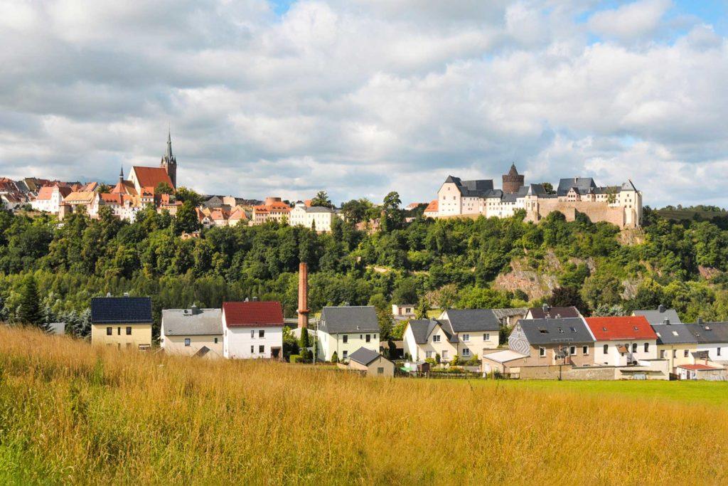 Sachsen   Leisnig - Blick auf den Marktplatz